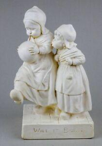 "Vintage - Will It Burst Plaster Reg No 482 Statue 15"" (RARE / Unique)"