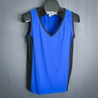Banana Republic Womens Tank Top Shirt Size Large Blue Black Jersey Knit Casual