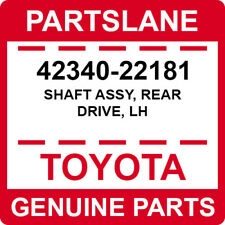 42340-22181 Toyota OEM Genuine SHAFT ASSY, REAR DRIVE, LH