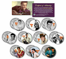 ELVIS PRESLEY MOVIES Colorized JFK Half Dollar 10-Coin Set *OFFICIALLY LICENSED*