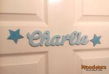 Personalised Names / Wooden Name Plaques / Door Sign / Bedroom Door Stars #06