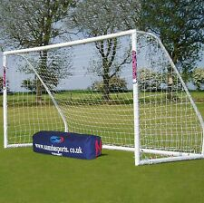 Samba 12 X 6ft Match Football Goal - 2 Pack Suitable for any surface Plastic NEW