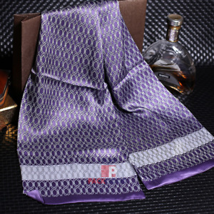 Men's 100% Pure Silk Scarf Best Value Real Nature Silk Stylish Knot Pattern