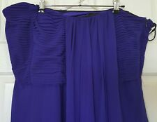 CITY CHIC Purple Blue Strapless Evening Formal Dress us Size M 16 18