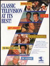 CLASSIC TV__Orig. 1994 Trade AD / TV series promo__BONANZA__I SPY__DR. KILDARE