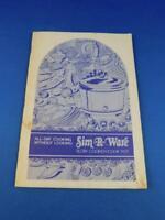 SIM-R-WARE RECIPE BOOKLET INSTRUCTION MANUAL SLOW COOKER COOK POT