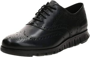 Mens Cole Haan Zerogrand Wingtip Oxford - Black Leather, Size 11 W [C20719]