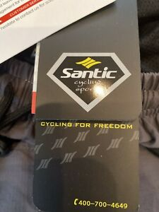 SANTIC MENS 3XL Riding Short, Padded Bicycle Shorts With Loose Fit, Side Pockets
