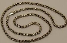 Sterling Silver 60cm Square Design Belcher Chain