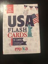 Merka Educational Flashcards Usa Set - 95 Cards Presidents / States New Sealed