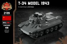T-34 Model 1943 WWII Soviet Tank - Brickmania Custom Building Set