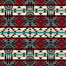 Fabric Native American Dreamcatchers Southwestern on Cotton by the 1/4 yard GR
