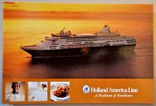 POST CARD HOLLAND AMERICA MAASDAM CRUISE SHIP MAIL POSTAL 2005 HAL 30702227 NM