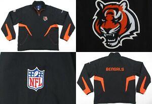 NEW! Reebok NFL On Field Cincinnati Bengals 1/4 Zip Pullover Windshirt Large