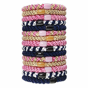 L. Erickson Grab and Go Pony Tube Hair Ties in Tennis Court 15 Pack