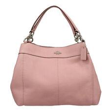 NWT COACH Small LEXY Shoulder Bag Tote Petal Pink Silver Purse F28992 SV/ET