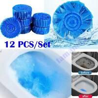 Automatic Toilet Flush Blue Bubble Cleaner Toilet Deodorization Clean 12Pcs/Set