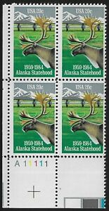 Alaska Statehood   Plate Block Scott  2066  MNH