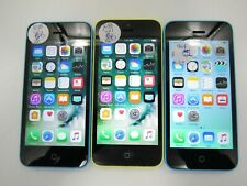 Lot of 3 Apple iPhone 5c A1532 16 GB Unlocked Check IMEI Good Condition 7-1658