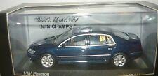 Minichamps 400051000, VW Phaeton, 2002, lunablue perleffect, 1/43, NEU&OVP