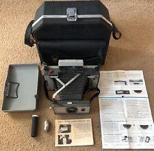 Polaroid Land Camera Automatic 103 & Leather Case - Vintage 1960's