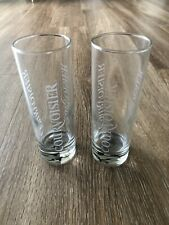 New listing Courvoisier Highball Liquor Glass Set of 2 glasses -Etched emblams- 6 in. K