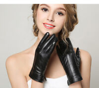 Women's Winter Warm Leather Gloves Touchscreen Texting Driving Lambskin Inner