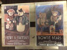 "BEAR PATTERNS  X 2     ""HENRY & HANNAH"", &  "" BOWTIE BEARS"""