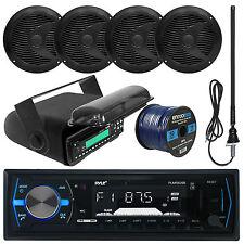 "Pyle Bluetooth USB Marine Radio, 6.5""Speakers and Wiring, Antenna, Radio Housing"