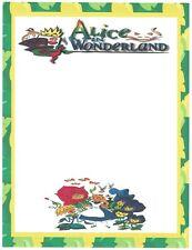 Alice In Wonderland In Garden Stationery Printer Paper 26 Sheets