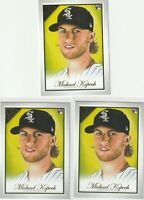 2019 TOPPS GALLERY ROOKIE CARD Michael Kopech Chicago White Sox 3 CARD LOT