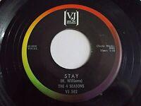 The 4 Seasons Stay / Goodnight My Love 45 1964 Vee Jay Vinyl Record