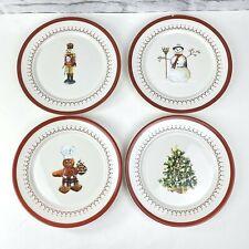 Williams Sonoma Christmas Icons Salad Plates Boxed 4 tree snowman nutcracker