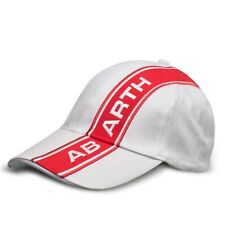 834c16a30b7 Abarth Baseball Hat Cap White Red New Genuine 6002350108
