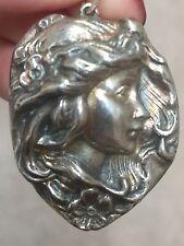 Vintage Henryk Winograd HW999 Fine Silver Cameo Pendant