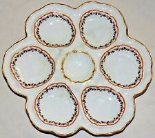 French oysters plate  Limoges Porcelain