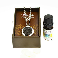 Wrought Iron Essential Oil Diffuser Necklace Stainless Steel Locket Pendant with