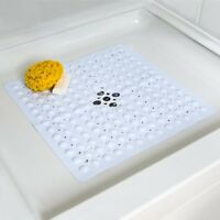 NEW SlipX Solutions Deluxe Square Shower Mat in White or Clear