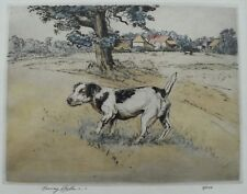 Henry Wilkinson Drypoint Etching JACK RUSSELL Terrier Dog Newman Galleries PA