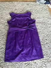 Women's Marks And Spencer Purple Wiggle Dress, Size 22