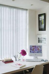 "Vertical Blind Slats - 89mm (31/2"") PVC Blackout fabric"