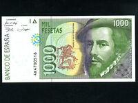 Spain:P-163a,1000 Pesetas,1992 * Hernan Cortes * UNC *
