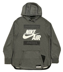 BRAND NEW! Nike Air Championship Athletes USA Stars Hoodie  Men LG  802638  Gray