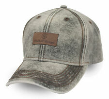 SMITH & WESSON *BRUSHED CANVAS* Leather Patch TWILL HAT CAP *NEW* SW60