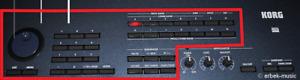 Korg Triton Extreme 61 76 88  Button Block Right Nummern + Bänkeblock