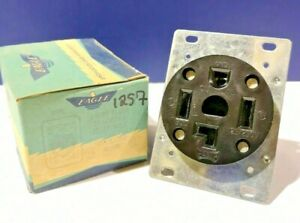 Eagle Brown 4-Wire Flush Grounding Receptacle 1257 NEW WOW!