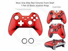 New Xbox One Elite Red Chrome black rings Controller Soft Front Shell Unique