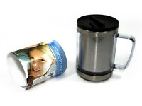 Creat Your Own Photo Custom 6x4 Gift Travel Flask Cup Thermal Mug Coffee Tea