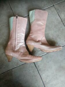 Terra Plana quirky baby pink blue sparkle boots 38 5