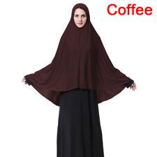 Muslim Women Prayer Hijab Long Scarf Jilbab Islamic Large Overhead Dress M-xl 3c Grey XL